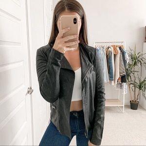 Veda Smooth Leather Jacket Black